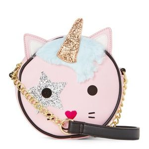 BETSEY JOHNSON Unicorn Kitty Crossbody Handbag NEW